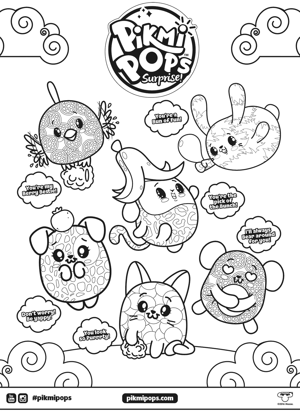 Pikmi Pops Surprise Coloring Page