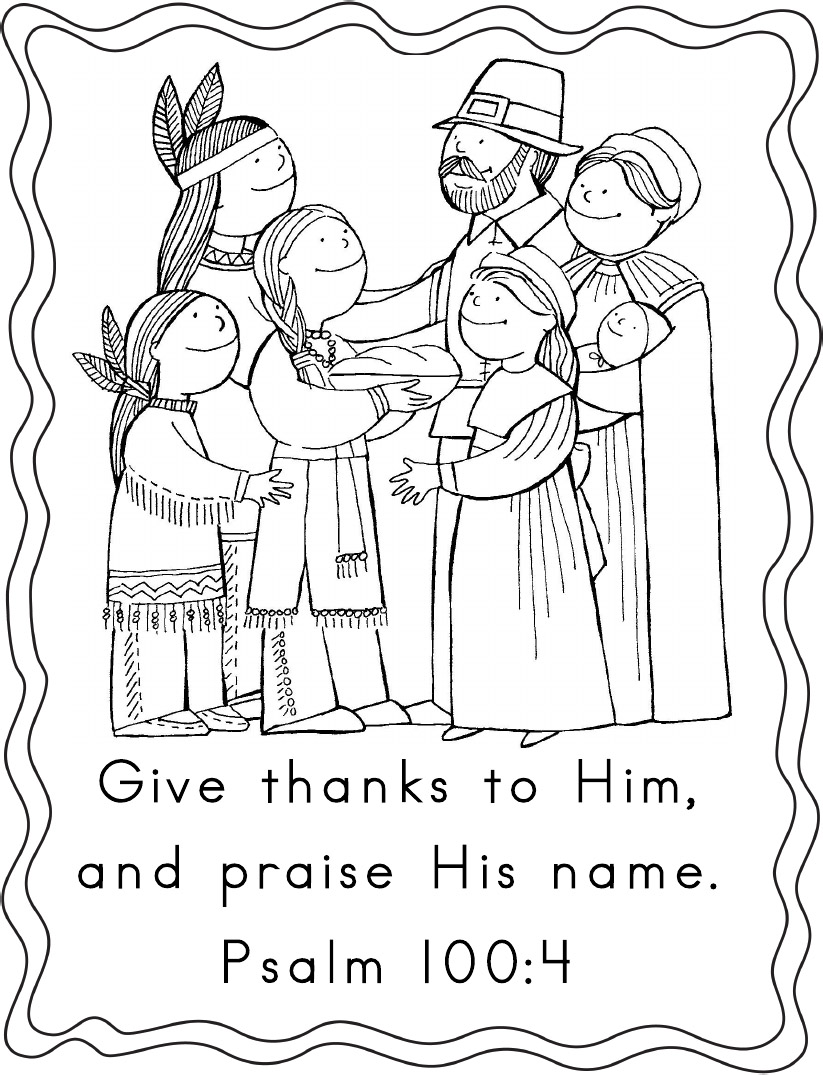 Psalm First Thanksgiving Coloring Page