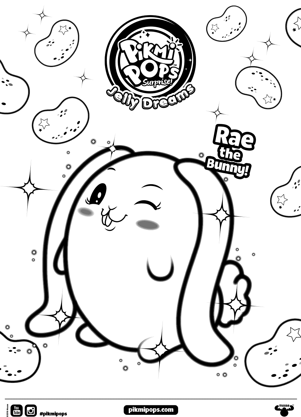 Rae Pikmi Pops Coloring Pages