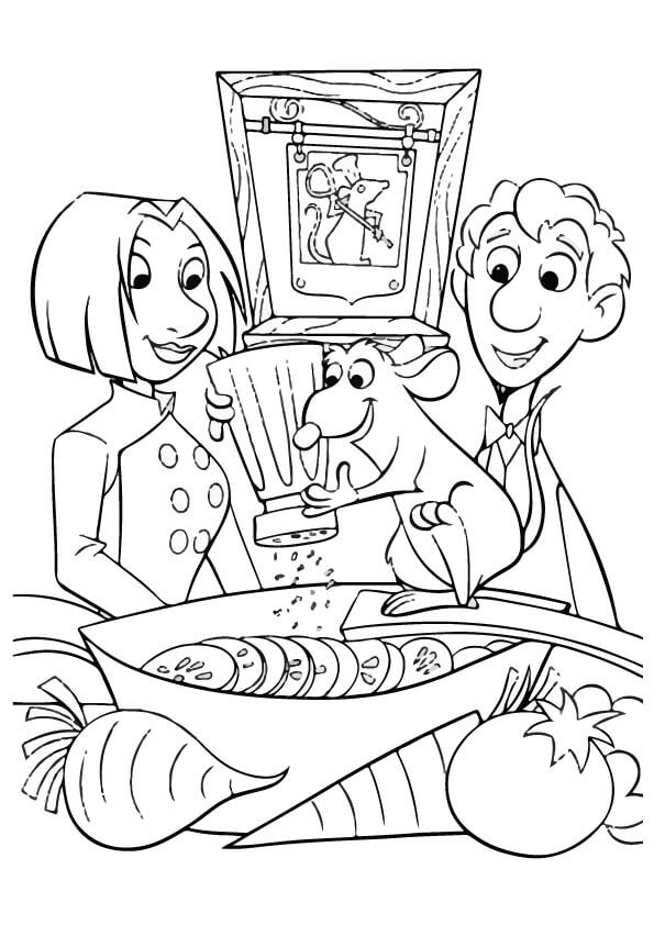 Ratatouille Thanskgiving Coloring Page