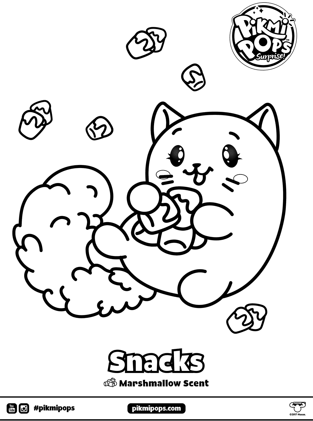 Snacks Pikmi Pops Coloring Pages