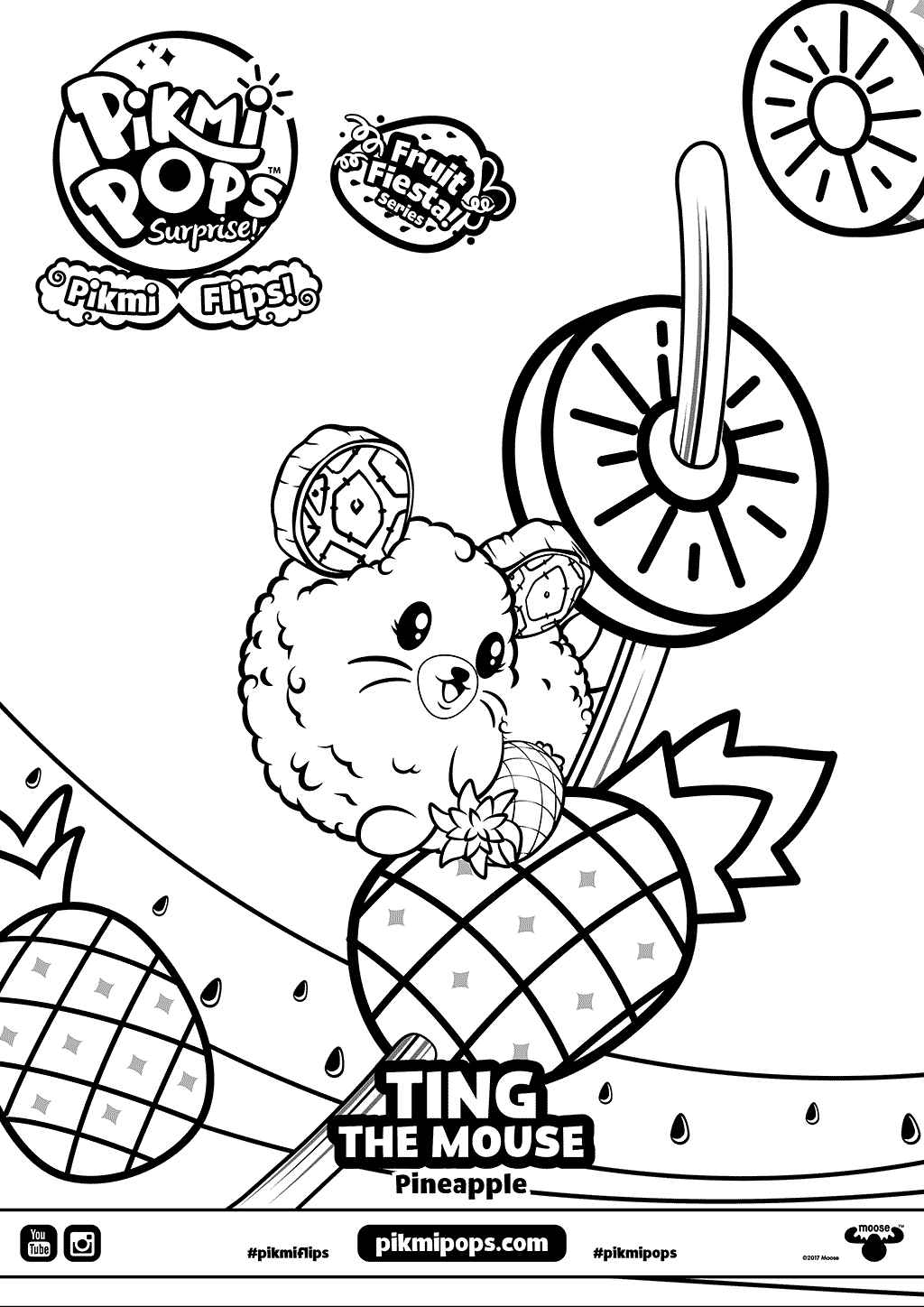 Ting Pikmi Pops Coloring Pages