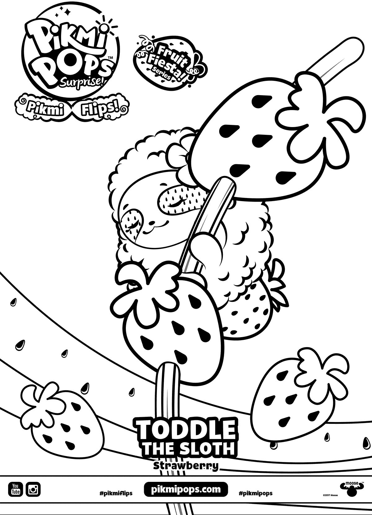 Toddle Pikmi Pops Coloring Pages