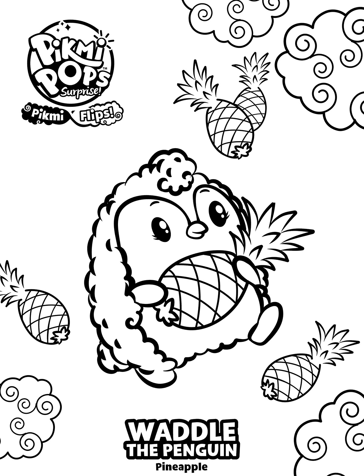 Waddle Pikmi Pops Coloring Pages