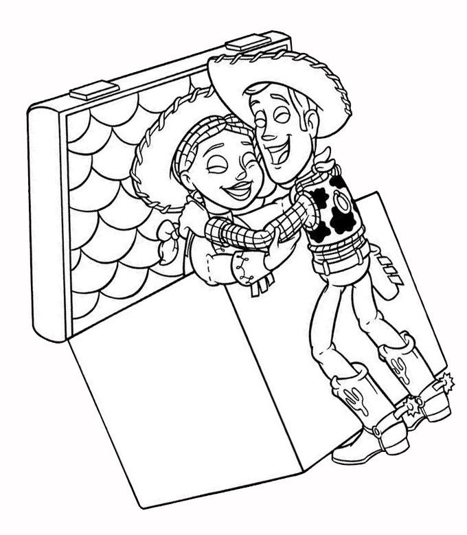 Woody Finds Jessie Coloring Page