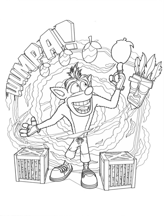 Wumpa Fruit Crash Bandicoot Coloring Pages