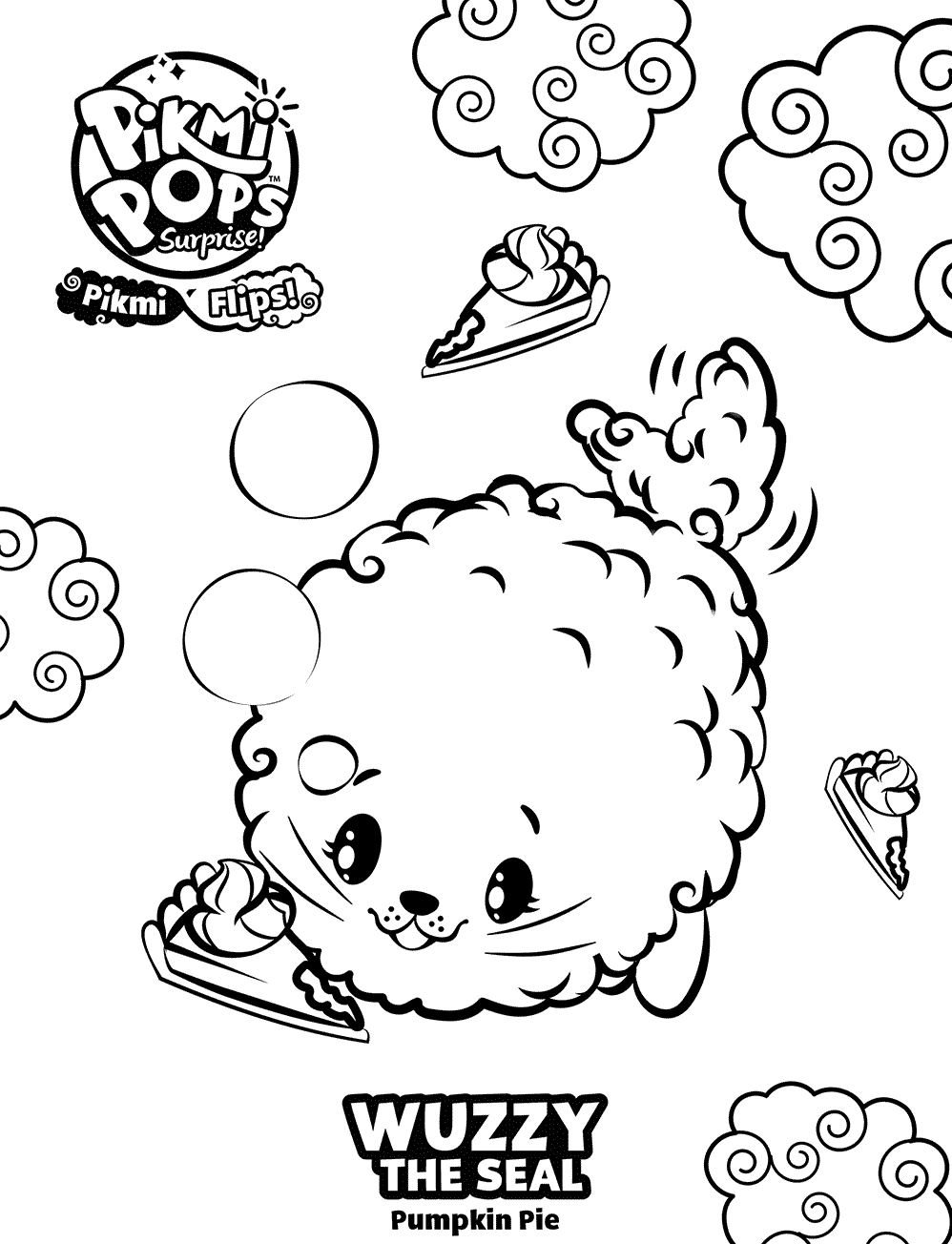 Wuzzy Pikmi Pops Coloring Pages