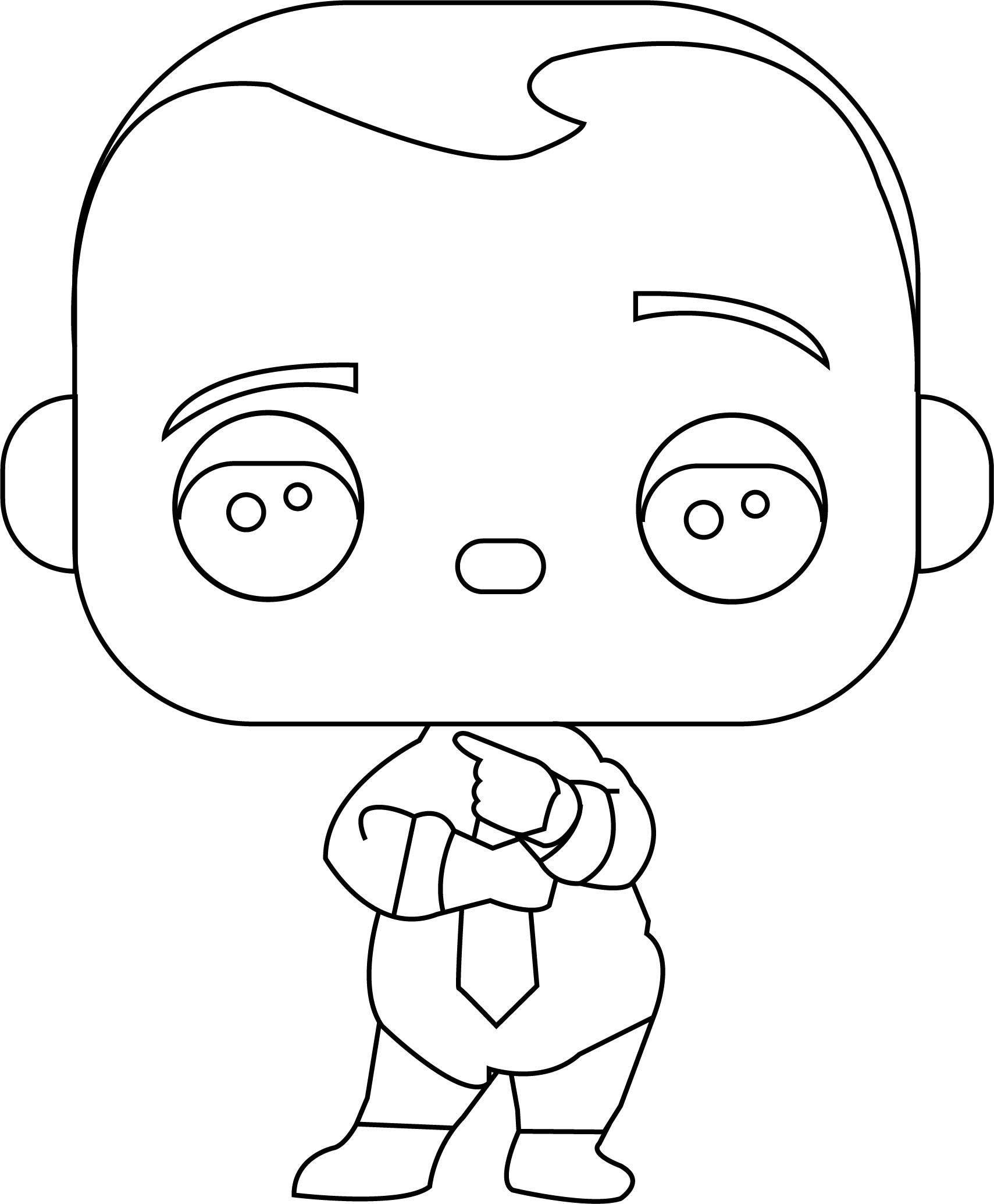 Boss Baby Funko Pop Coloring Page