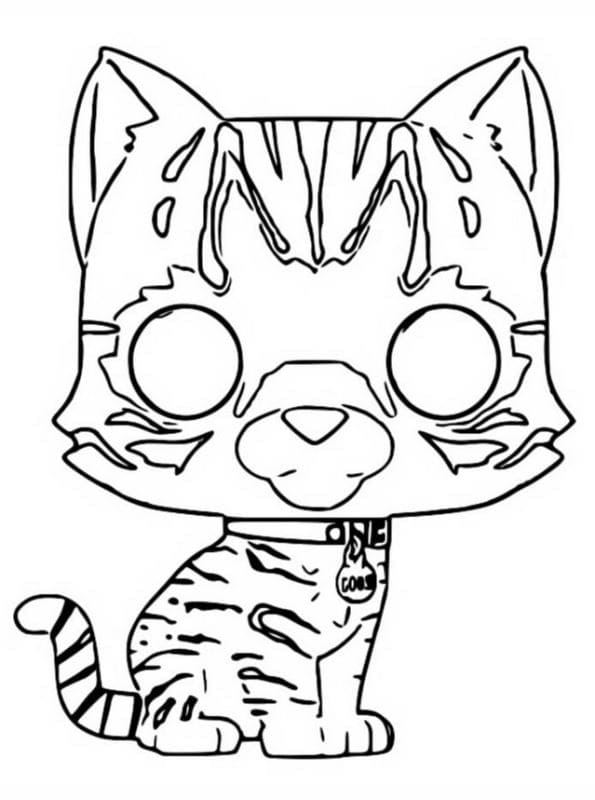 Goose The Cat Funko Pop Coloring Page
