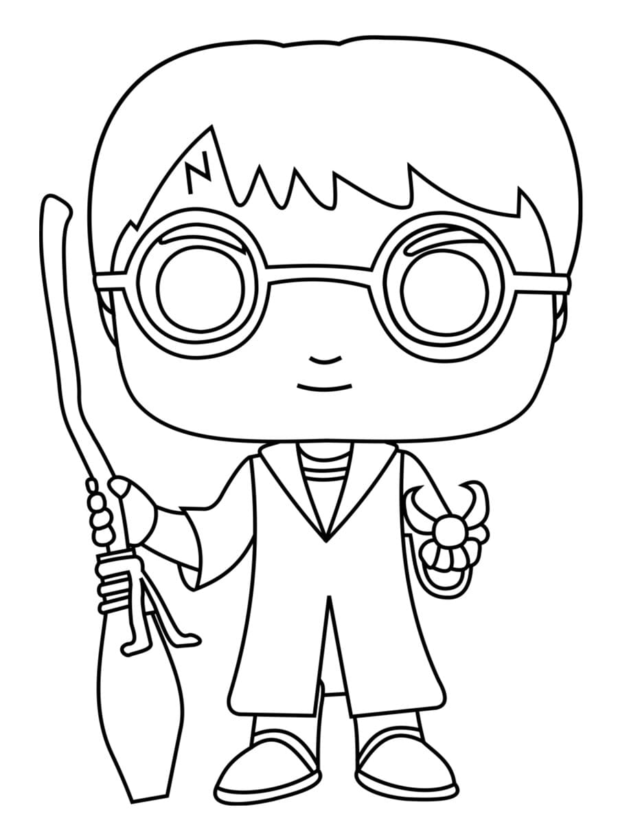Harry Potter Funko Pop Coloring Page