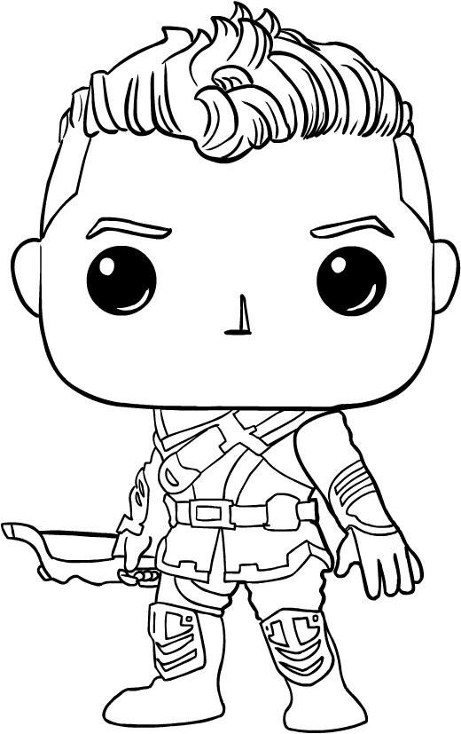 Hawkeye Avengers Funko Pop Coloring Page