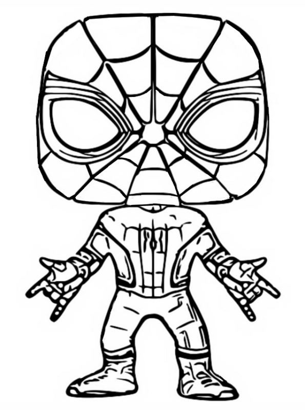 Spider Man Funko Pop Coloring Page