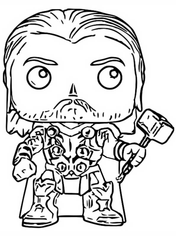 Thor Funko Pop Coloring Page