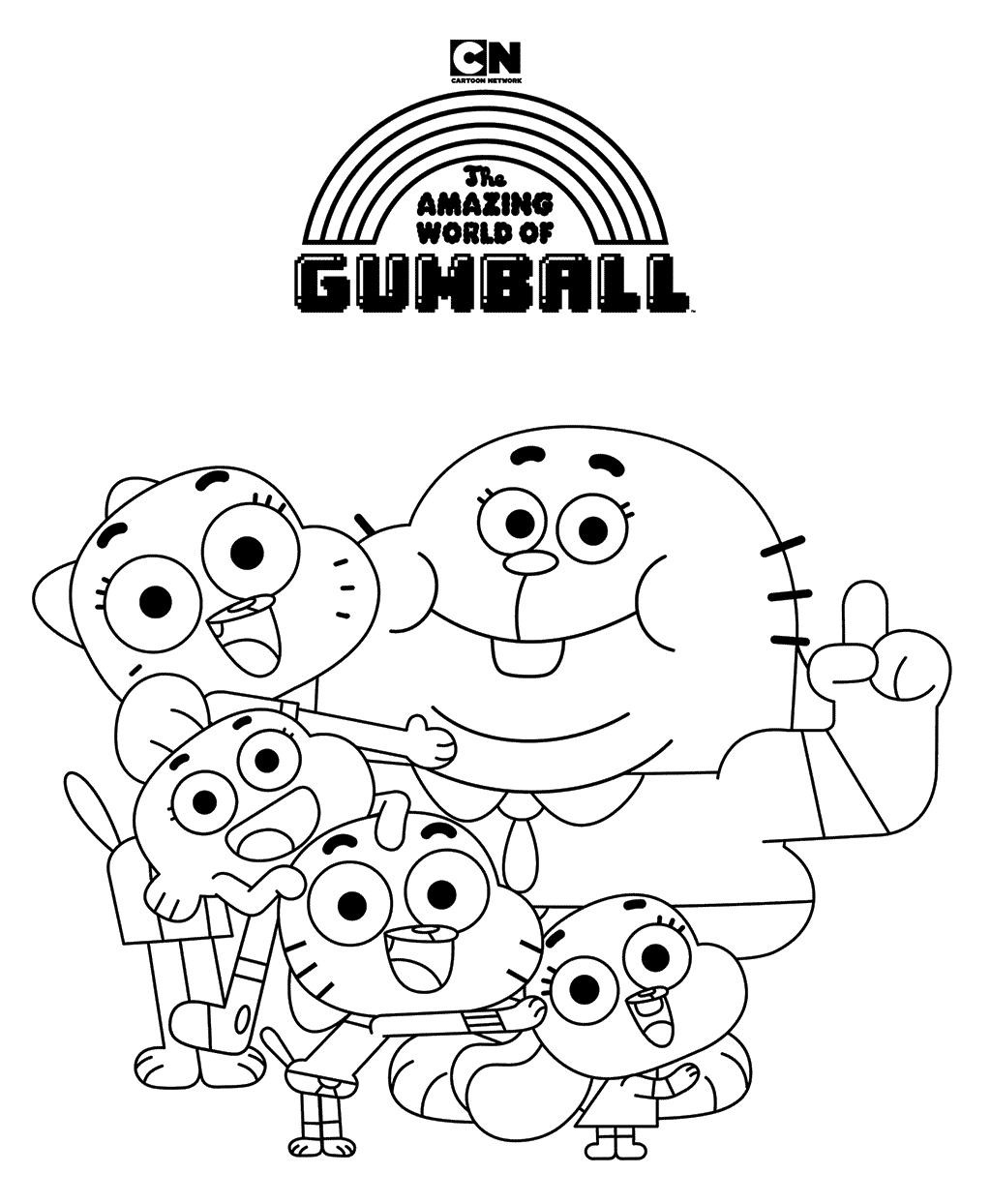 Amazing World Of Gumball Coloring Page