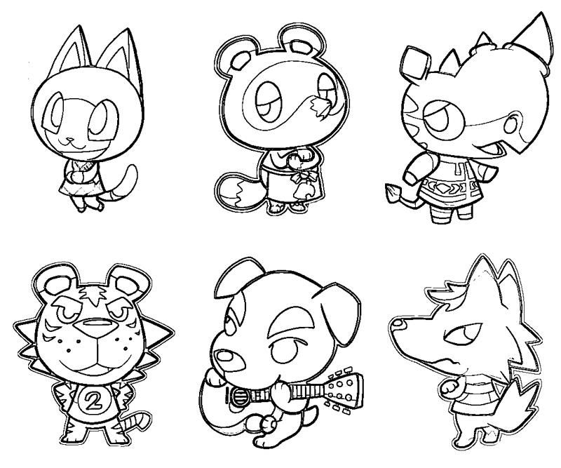 Animal Crossing Animaals Coloring Pages