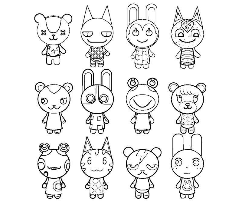 Animal Crossing Animals Coloring