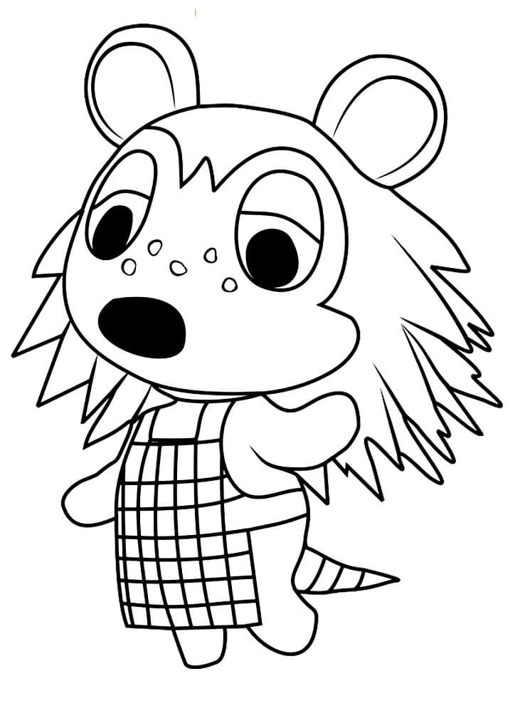 Animal Crossing Sable Coloring Page