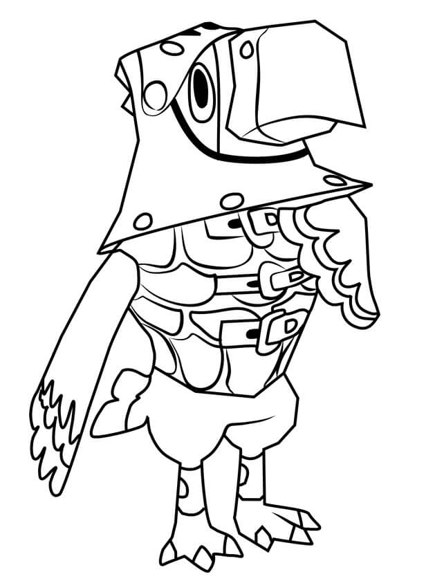 Animal Crossing Sterling Coloring Page