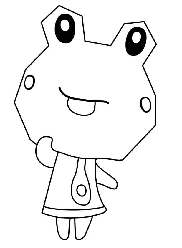 Animal Crossing Sunny Coloring Page