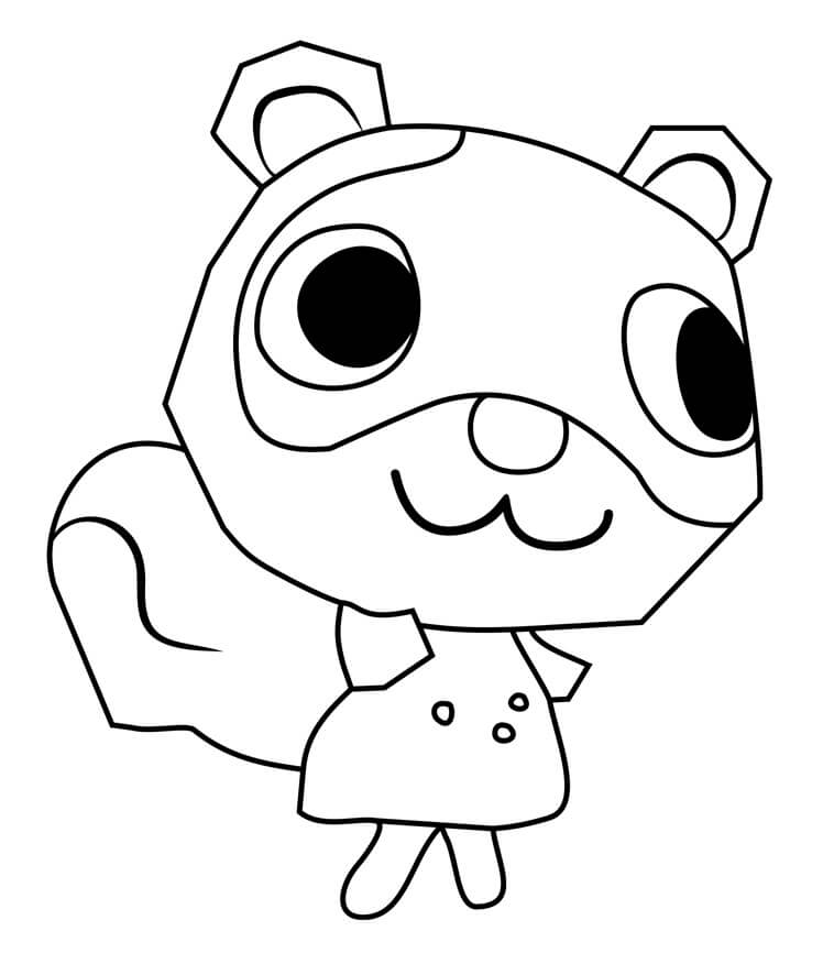 Animal Crossing Sylvana Coloring Page
