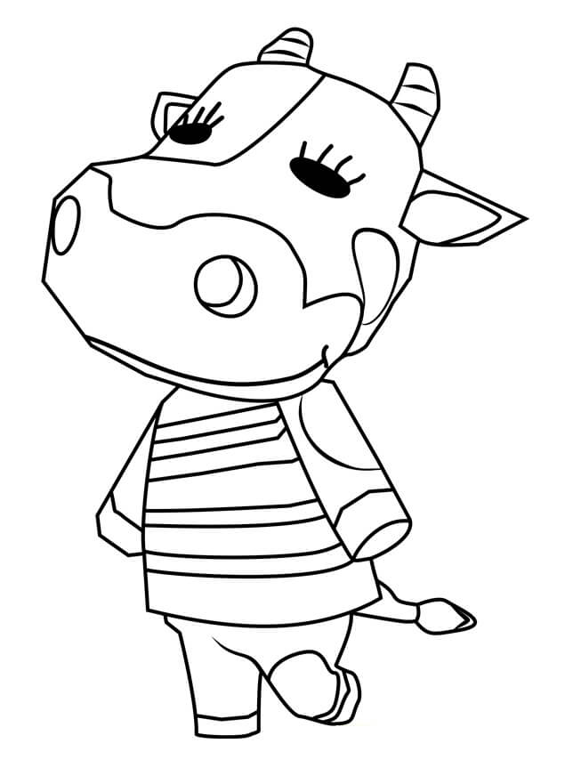 Animal Crossing Tipper Coloring Page