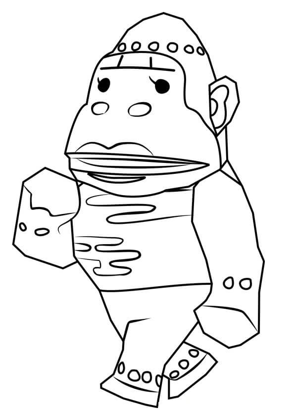 Animal Crossing Violet Coloring Page