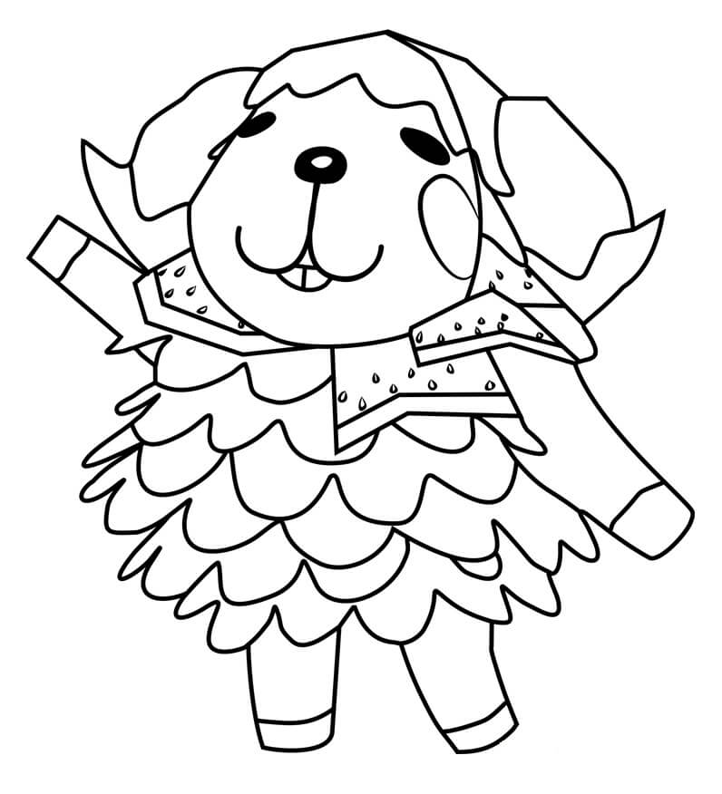 Animal Crossing Wendy Coloring Page