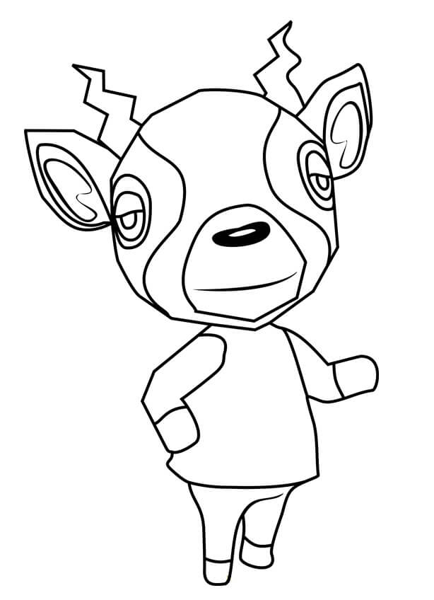Animal Crossing Zell Coloring Page