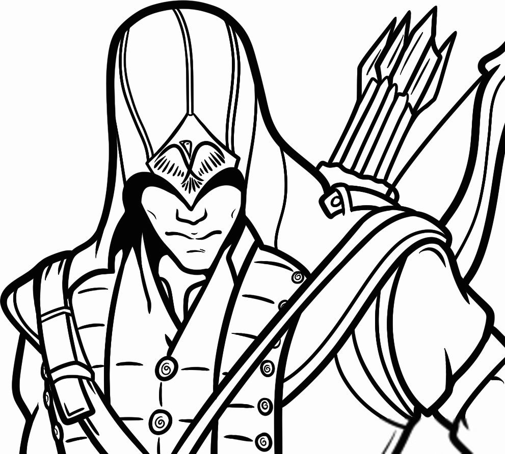 Assassins Creed Video Game Coloring Page