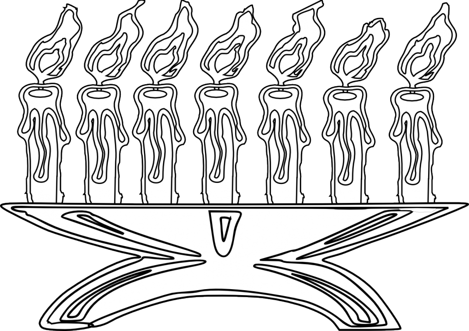 Candles For Kwanzaa Coloring Page