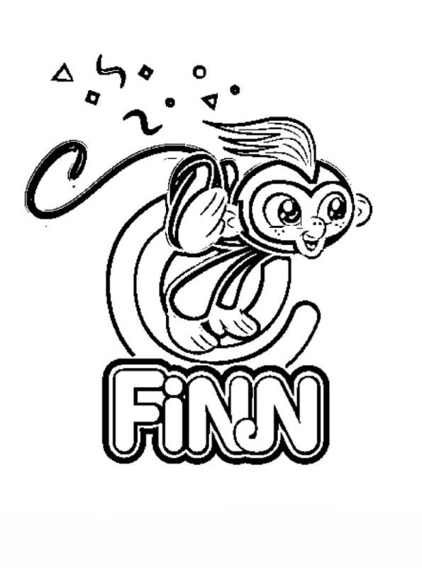 Finn Fingerlings Coloring Pages