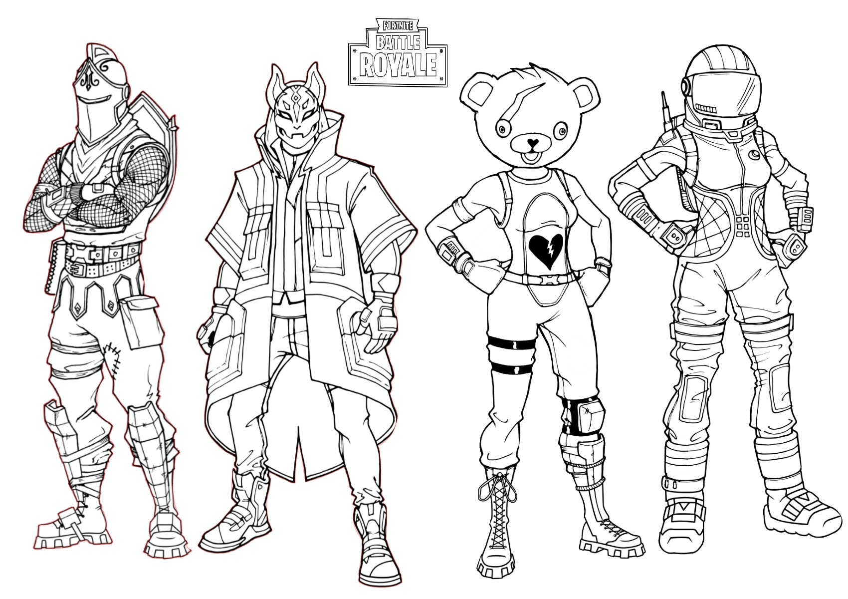 Fortnite Video Game Coloring Page