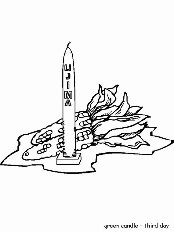 Kwanzaa Ujima Third Day Coloring Page