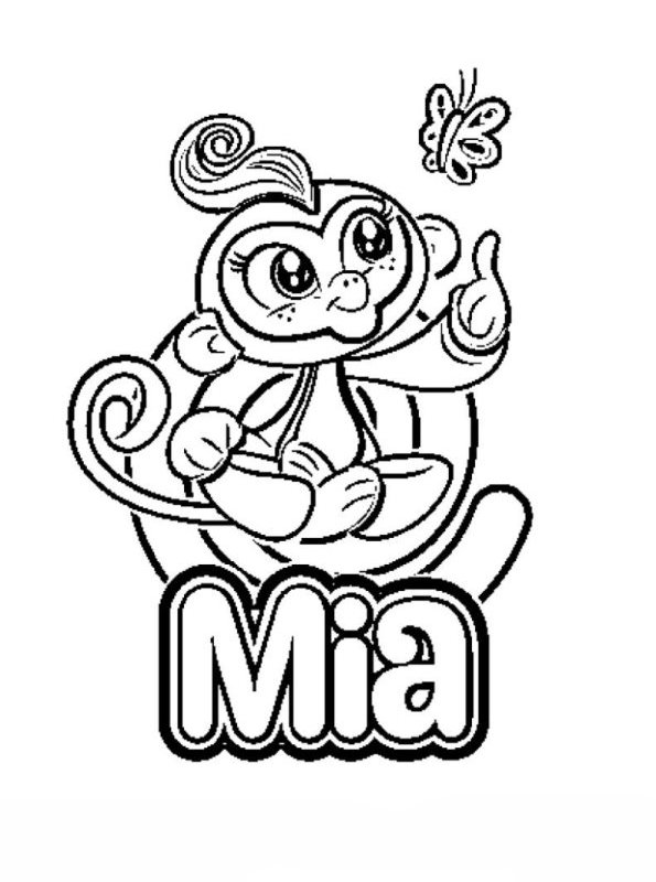 Mia Fingerlings Coloring Pages