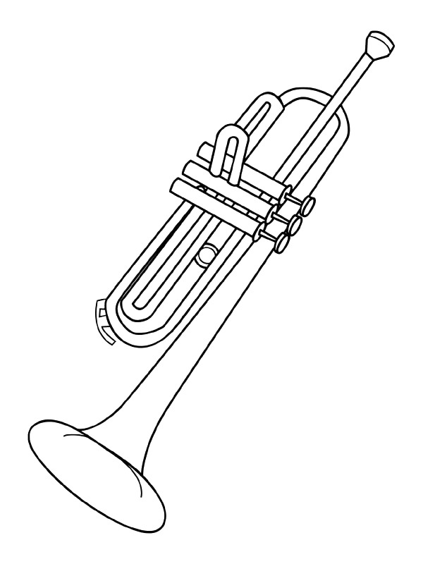 Musical Instrument Trumpet Coloring Pages