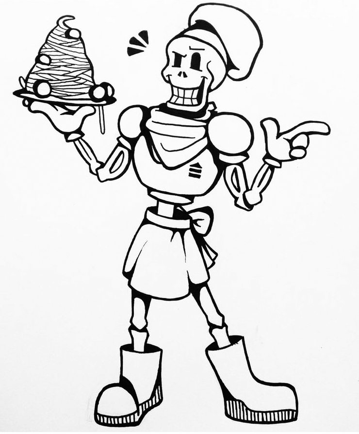 Papyrus Undertale Coloring Pages
