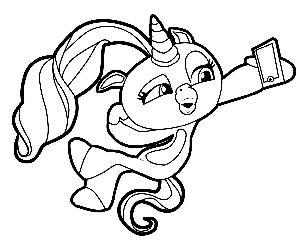 Pretty Unicorn Fingerlings Coloring Pages