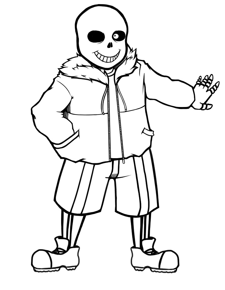 Sans Undertale Coloring Printable