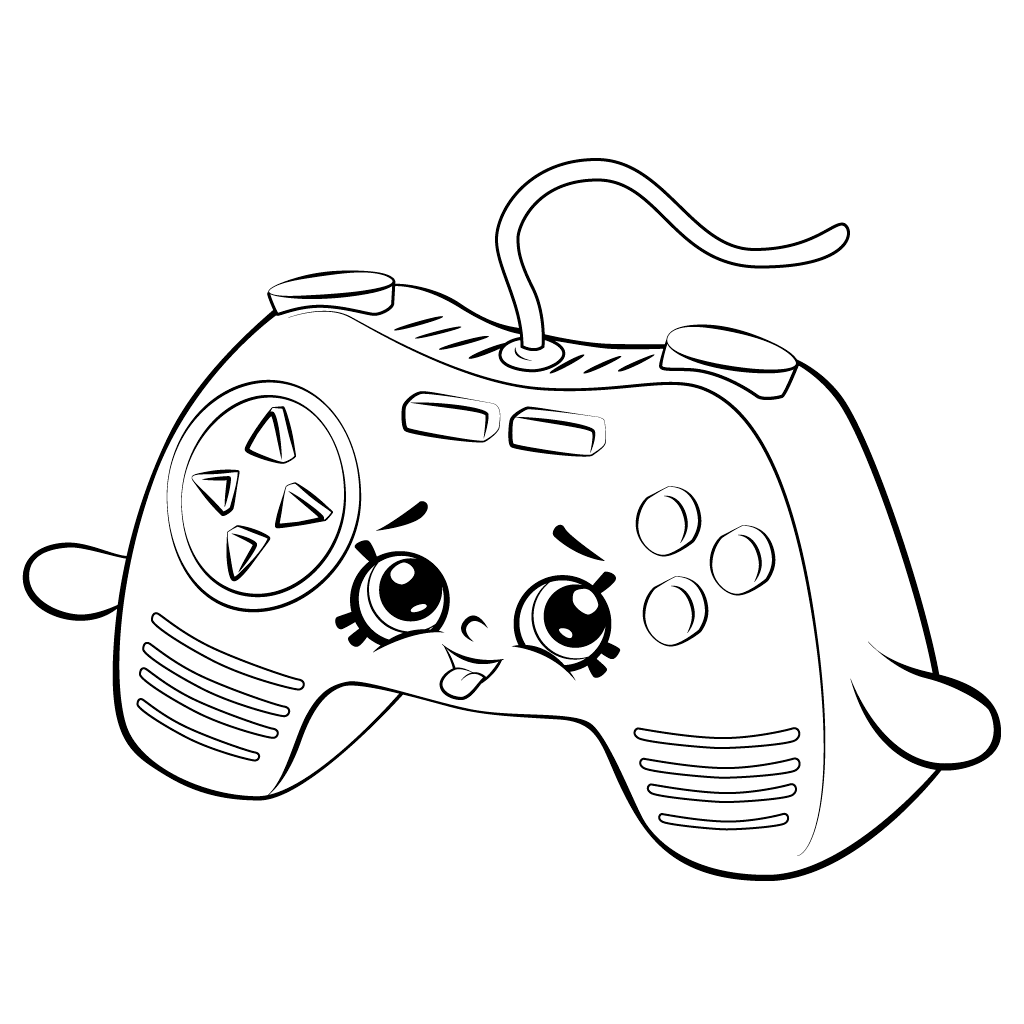 Shopkins Video Game Controller Coloring Page