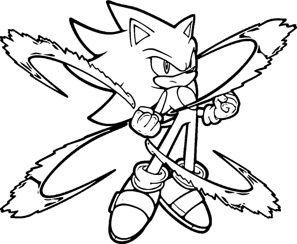 Sonic The Hedgehog Video Game Coloring Page