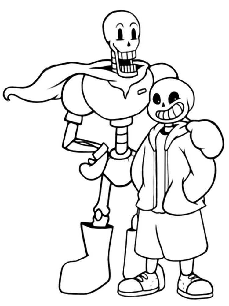 Undertale Printable Coloring Pages