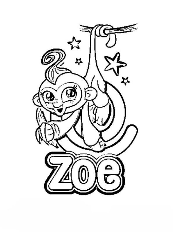 Zoe Fingerlings Coloring Pages