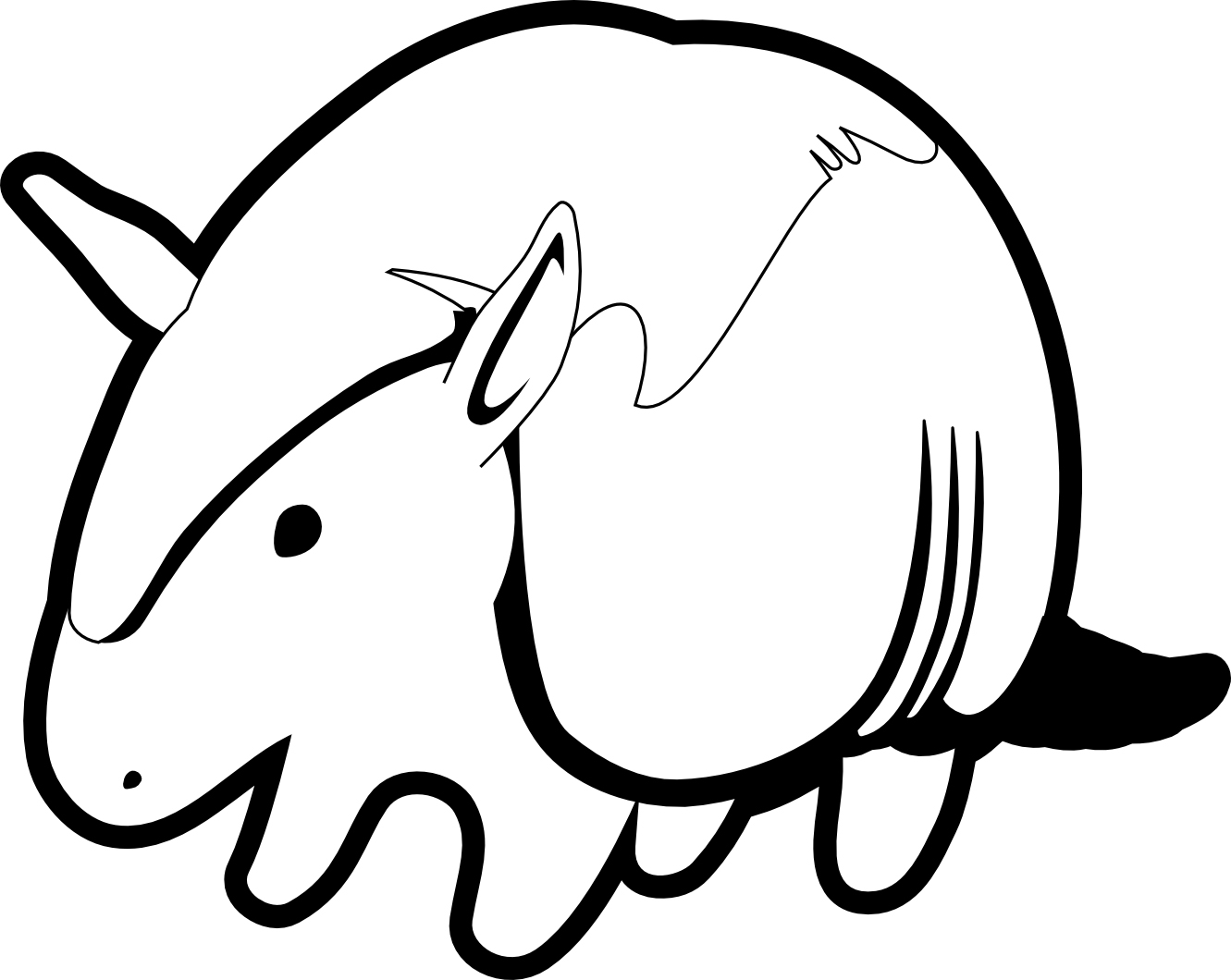 Cartoon Armadillo Coloring Page
