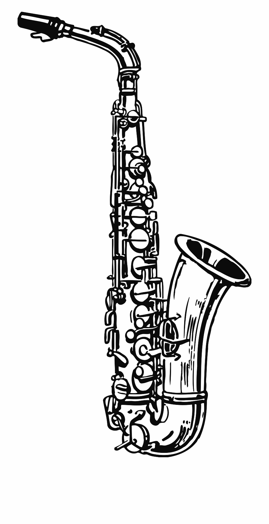 Saxophone Coloring Pages