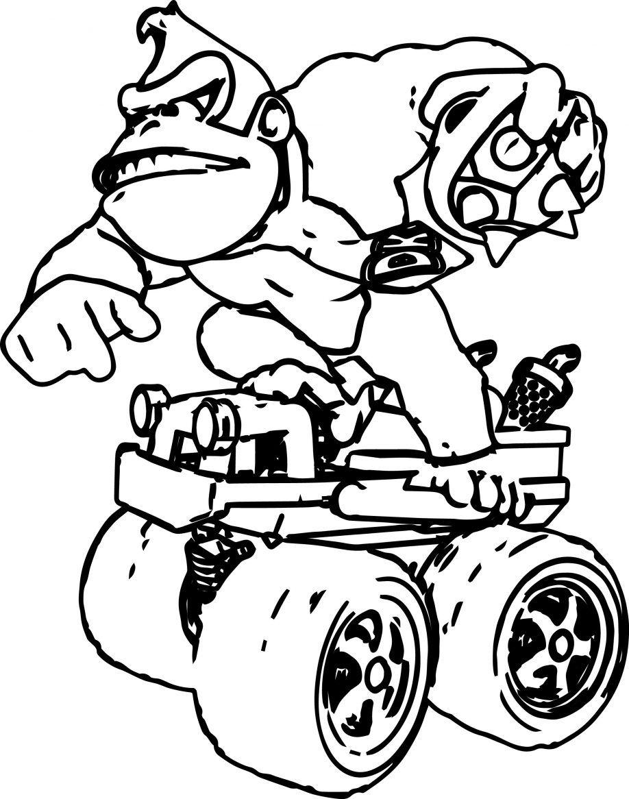 Donkey Kong Coloring Page