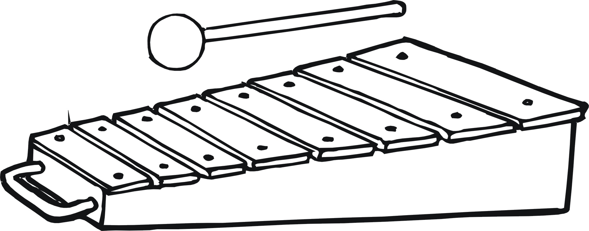 Easy Xylophone Coloring Pages