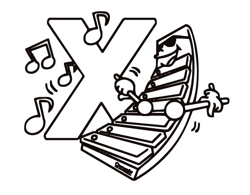 Fun Xylophone Coloring Pages