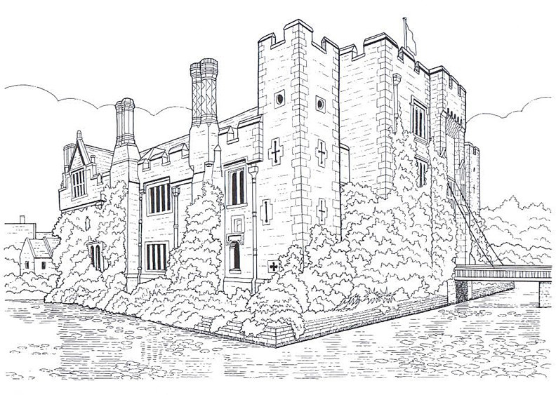 Irish Castle Coloring Page