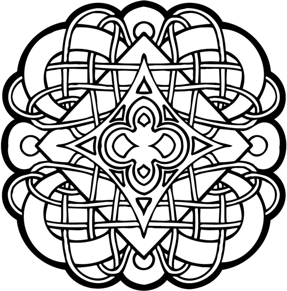Irish Celtic Knot Coloring Page
