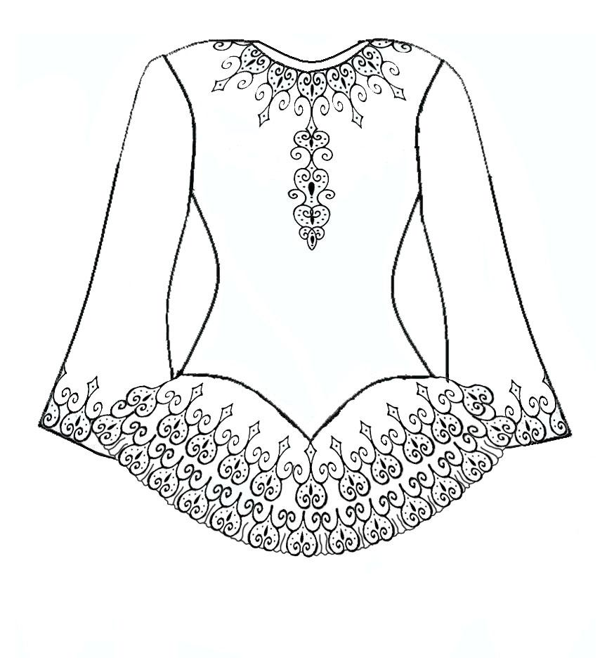 Irish Dancer Costume Coloring Page